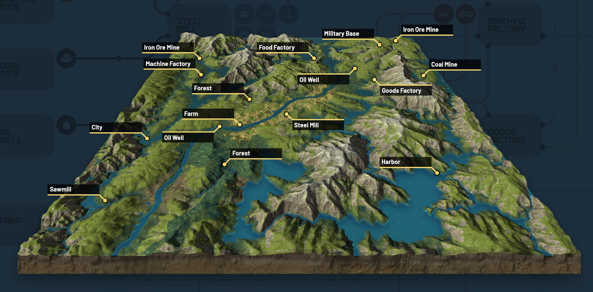 Derail Valley World Map